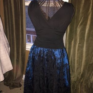 Blue Sequined designed Formal Dress